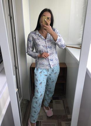 Пижама костюм домашний для сна дома штаны кофта