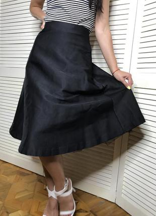 Брендовая юбка из плотной ткани valentino
