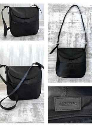 Кожаная сумка кроссбоди через плечо натуральная кожа