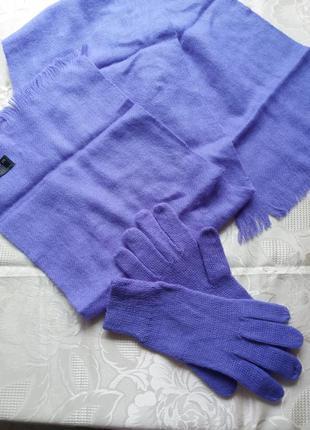 Тёплый набор, перчатки и шарф на осень, осенний шарф с перчатками