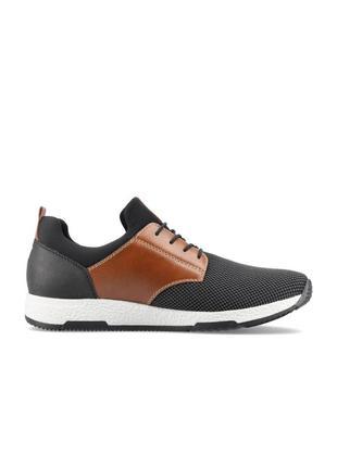 Оригінальні чоловічі шкіряні кросівки rieker (b3453/00)