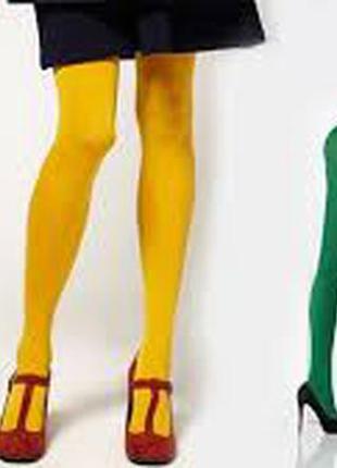 Яркие стильные колготки calzebonia