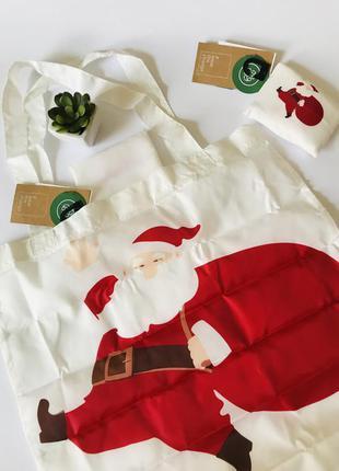 Эко сумка шоппер, сумка для покупок, продуктов, тематика новый год, санта c&a🎁