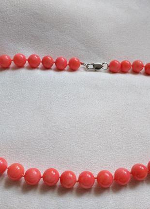 Бусы ожерелье коралл