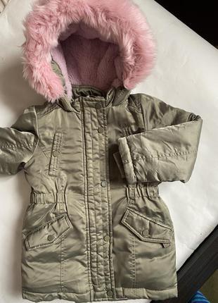 Куртка парка primark на девочку 1.5-2года