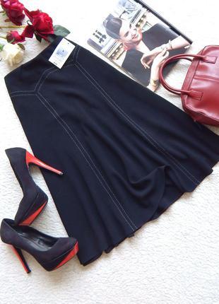 Новая миди юбка marks & spencer с контрастной строчкой