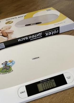 Весы для взвешивания новорождённых деток rotex