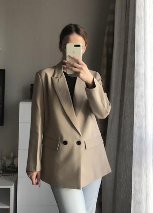 Двубортный пиджак zara