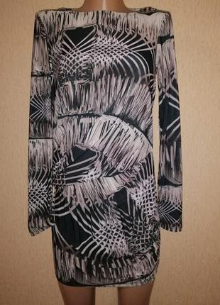 Красивая женская удлиненная кофта, туника с открытой спиной ted baker