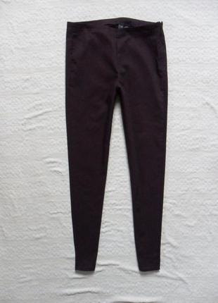 Стильные джинсы джеггинсы скинни марсала h&m, 12-14 размер