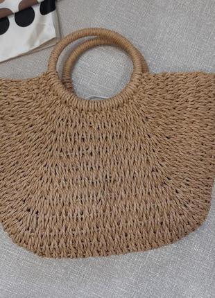 Удивительная соломенная сумка