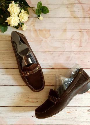 Кожаные  туфли лоферы мокасины clarks р.38