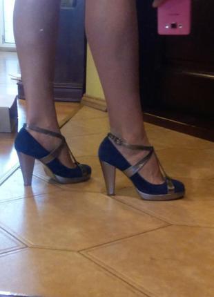 Туфли asos идеал шикарный замш и серебро 37 размер