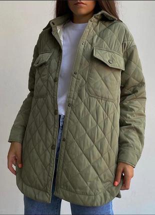 Стёганная куртка пальто