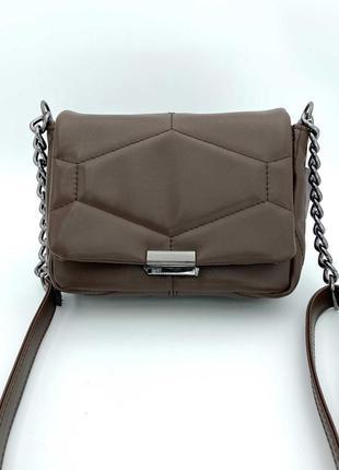 Маленькая женская сумка. маленька жіноча сумка перешита (шоколадна).