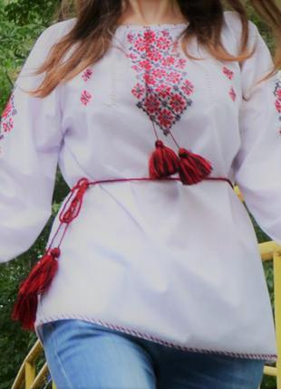 Вишиванка сорочка вышитая узоры орнаменты