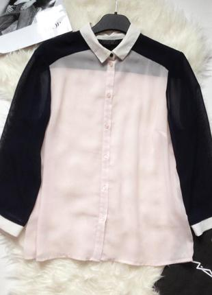 Шифоновая рубашка блуза topshop