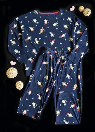 Дом.\пижамный костюм m&s хлопковый трикотаж, р.l\xl