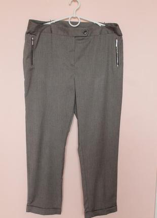 Бежево-серые классические брюки, штаны классика 52-54 р.