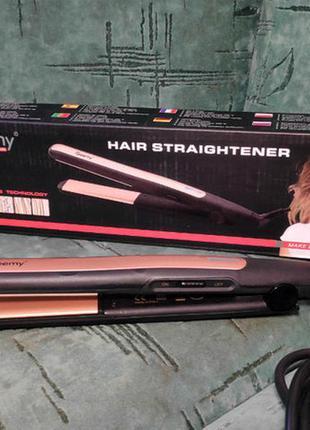 Утюжок для выравнивания волос gemei gm 2955 с турмалиновым покрытием / утюг выпрямитель для волос
