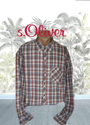 🎋🎋s. oliver пог 68 хлопковая мужская рубашка с длинным рукавом xxl 🎋🎋🎋