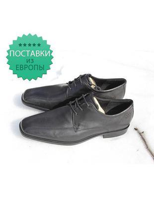 Туфли классические черные ecco. оригинал. кожа