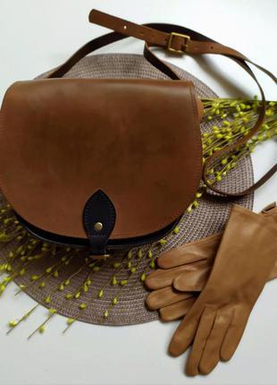 Кожаная сумка седло от  cashib london