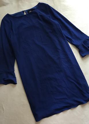 Синее свободное платье(12р)l