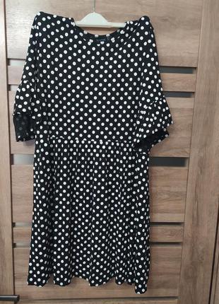 Платье в горошек boohoo