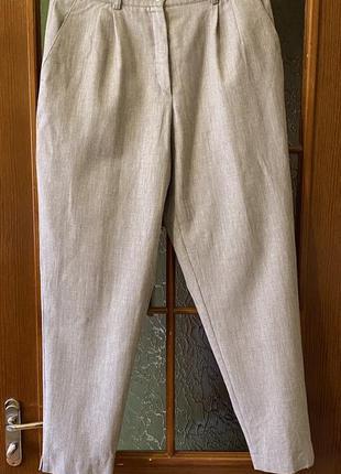 Cтильные бежевые шерстяные брюки casuro на высокой посадке