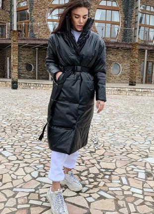 Пальто оверсайз пуховик
