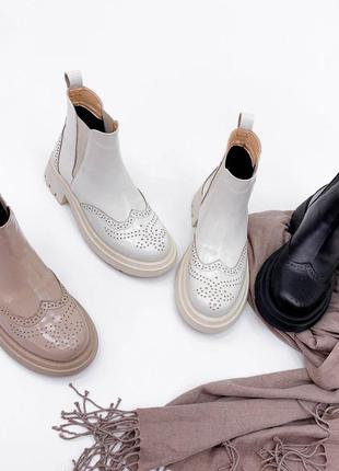 Ботинки ботиночки натуральная кожа замша
