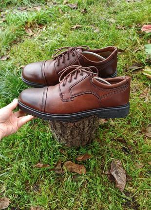 Туфлі туфли полуботинки кожаные clarks rieker 45 р оригінал