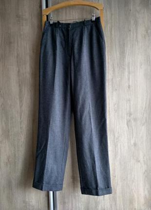 Milano шерстяные брюки с подкатами