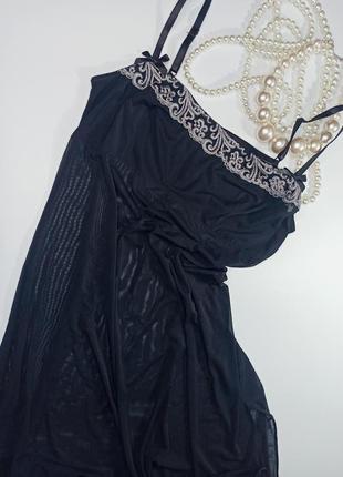 Чувственная и соблазнительная ночная сорочка комбинация неглиже пеньюар miriale ( франция)