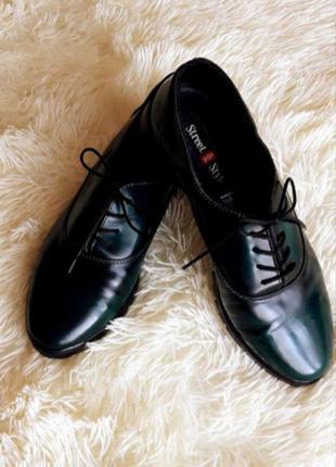 Туфли мокасины балетки ботинка лаковые на шнуровке низкие zara h&m bershka primark asos next mango