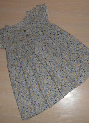 Платье, сарафан next трикотажное, 12-18 мес, 80-86 см, хлопок, 0ригинал