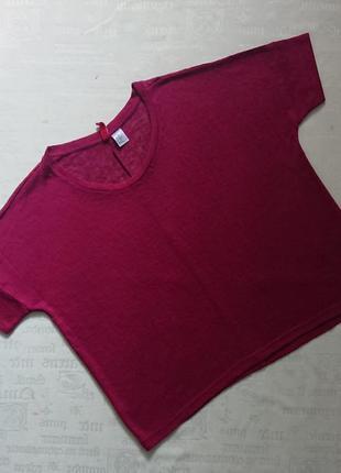 Классная футболка оверсайз /топ из вискозного трикотажа divided, xs/s