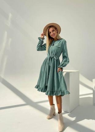 Платье микровильвет