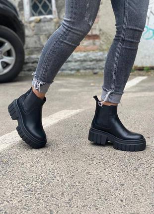 Ботинки женские кожаные осень весна