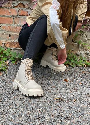 Ботинки женские кожаные осенние