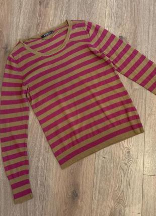 Globus свитер, пуловер в полоску, шелк+кашемир, р.с