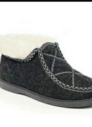 Теплые чуни бурки на меху ботиночки