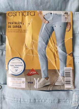 Esmara slim fit голубые джинсы l 46 евро