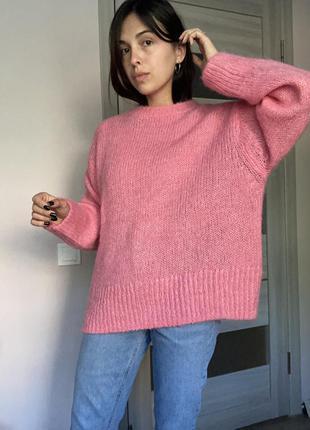 Оверсайз свитер из шерсти альпаки новый h&m