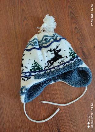 Шапка зимняя. шапка детская. шапка теплая