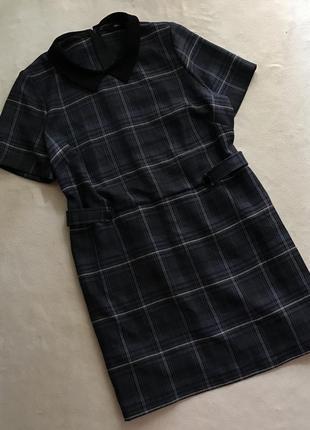 Тёплое платье в клетку (16р)44