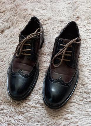 Мужские кожаные туфли,оксфорды