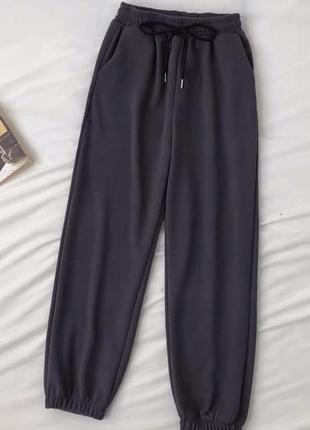 Штаны♀️ джоггеры свободного кроя🏁 микро вельвет, спортивные брюки