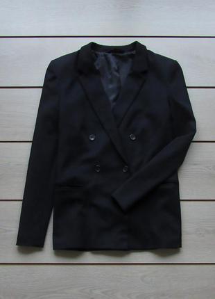 Фактурный двубортный пиджак блейзер от next